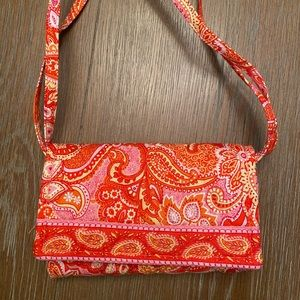 Vera Bradley Pink and Orange Small Crossbody